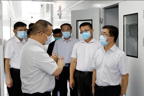 李峰书记一行莅临大健康医疗产业园视察重点项目